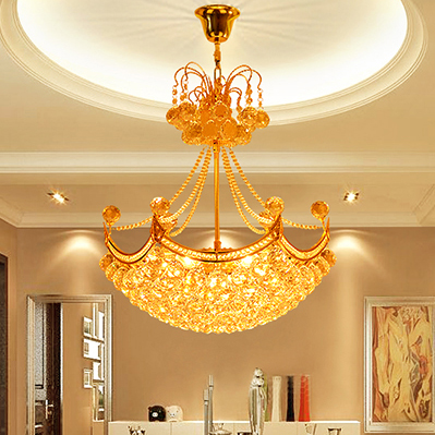 European Golden Crystal Chandeliers Lights Fixutre Home Indoor Lighting Modern Gold Crystal Droplight Dining Room Hanging Lamps european crystal chandelier living room decoration home lighting luxury glass chandeliers hotel hanging lights indoor wall lamp