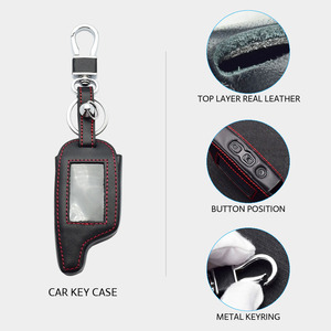 Image 3 - Leather Key Case For Pandora DXL 3000 3100 3170 3300 3210 3500 3700 Two Way Car Alarm System LCD Remote Fob Cover Keychain Bag