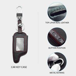 Image 3 - Оригинальный кожаный чехол для ключей для Pandora DXL 3000 3100 3170 3300 3210 3500 3700 два пути будильник машины Системы ЖК дисплей дистанционного Fob чехол сумка для ключей