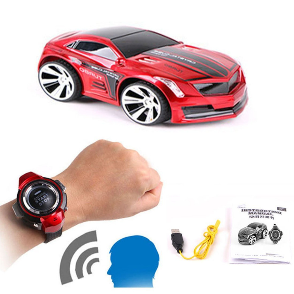 Novelty Creative Rechargeable Voice RemoteControl Car, Command by Smart Watch kid rc car toy 5 colors choose