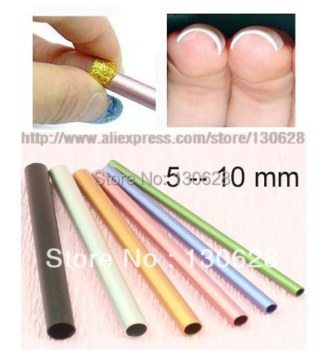 6pcs Set Colorful Metal Rod C Curves Sticks Nail Art Tools For Acrylic Manicure