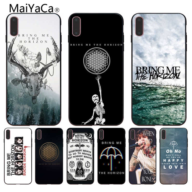 MaiYaCa The bring me horizon BMTH empapelado las nuevas fundas de teléfono superlindas para iPhone 8 7 6 6 S Plus 5 5S SE XR Coque Shell