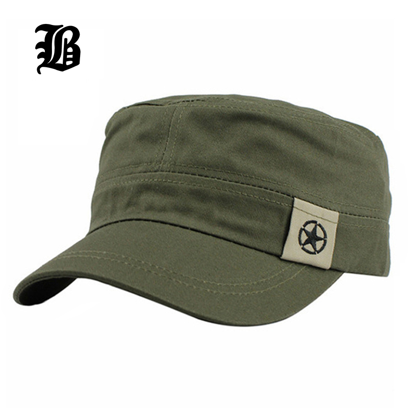 [FLB] 2016 New Fashion Sun Casual Military Hat Vintage Cotton Gorras Planas Sailor Patrol Fatigue Hats For Men Wholesale