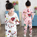 Girls Tracksuits 2 Cotton Floral Print Sports Suits For Girls Outfits 4 Cartoon Girls Clothing Sets 6 Kids Sportswear 8 10 Years