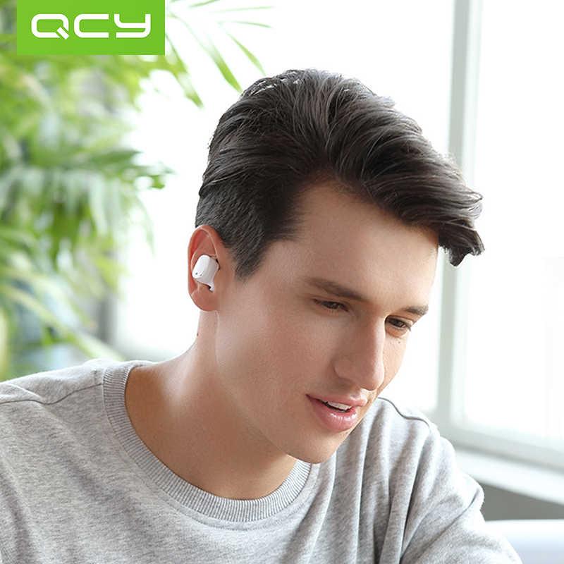 2018 QCY T1 PRO TWS słuchawki Bluetooth wbudowany mikrofon bezprzewodowe słuchawki z mikrofonem sterowanie dotykowe słuchawki sportowe z 750mAh etui do ładowania