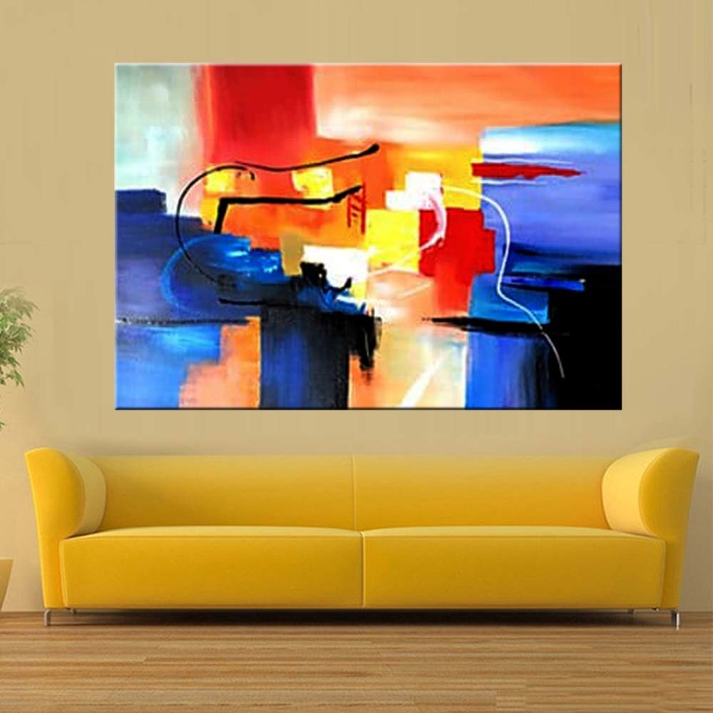Hand Painted Abstract Wall Oil Painting on Canvas Abstract Canvas ...