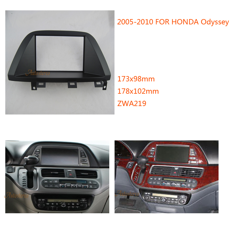 Autostereo DOUBLE DIN Car Radio Fascia Panel for Honda Odyssey 2005 2010 stereo facia frame panel