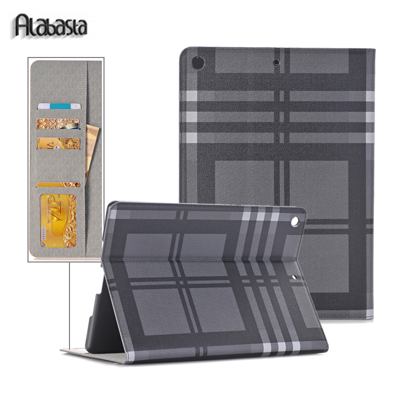 Alabasta Stripe Leather Case For iPad Pro 12.9 Magnetic Flip Stand Cover For Protective Wallet smart cover stylus alabasta cover case for apple ipad air1