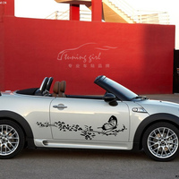Etiquetas Engomadas del coche Flores Mariposa Hermosa Creativa Tatuajes Impermeable Auto Tuning Styling 100 cm * 30 cm y 150 cm * 45cn D20