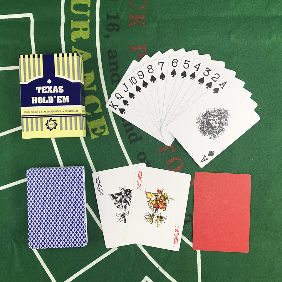Easytoday 2PcsSet PVC Poker Card Set Texas Waterproof Frosted Poker Cards Plastic Playing Cards Small Print Table Games (2)