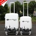 Alta Calidad 24''Women Niñas Equipaje Rodante ABS Barra de Tracción bolsas de equipaje de viaje trolley ruedas spinner rodando tronco bolsa de embarque