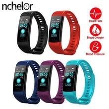Sport Heart Rate Monitor Watch IP67 Waterproof Smart Wristband Calorie Counter Watch Pedometer Sleep Monitor for Men and Women