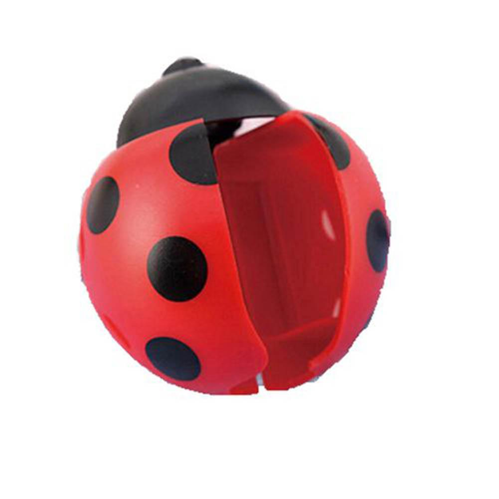 Hot sell Lovely Ladybug Home Bathroom Suction Cup Wall Mounted Toothbrush Holder Rack image
