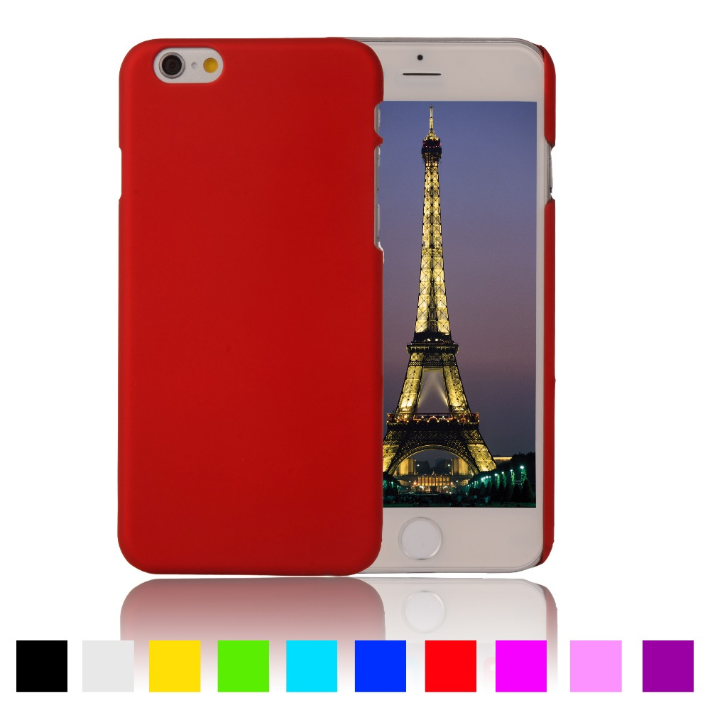 Galleria fotografica For apple iPhone 6s Case Coque Matte Rubberized Anti-skid Cover For iPhone 6 7 Plus Case Surface Hard Plastic Back Phone Cases