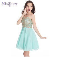 Vestido De Festa Curto Burgundy Mini Short Cocktail Dresses 2019 Gorgeous Beaded Short Prom Dresses Party Dress Mint Green