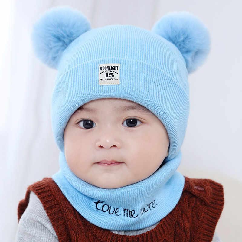 f7fdf62546f ... 2pcs baby winter hat snood baby boy girl hats kids muts newborn cap  toddler girls boys ...