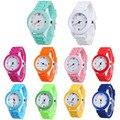 Mulher Crianças Relógios 2017 Marca de Luxo Da Moda Causal Quartzo Gel Geléia De Borracha de Silicone Sports Relógio de Pulso Relogios Feminino