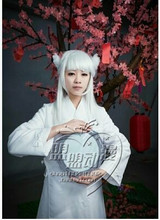 Kanna Inuyasha Cosplay Costume Custom Any Size dress with hair flowers