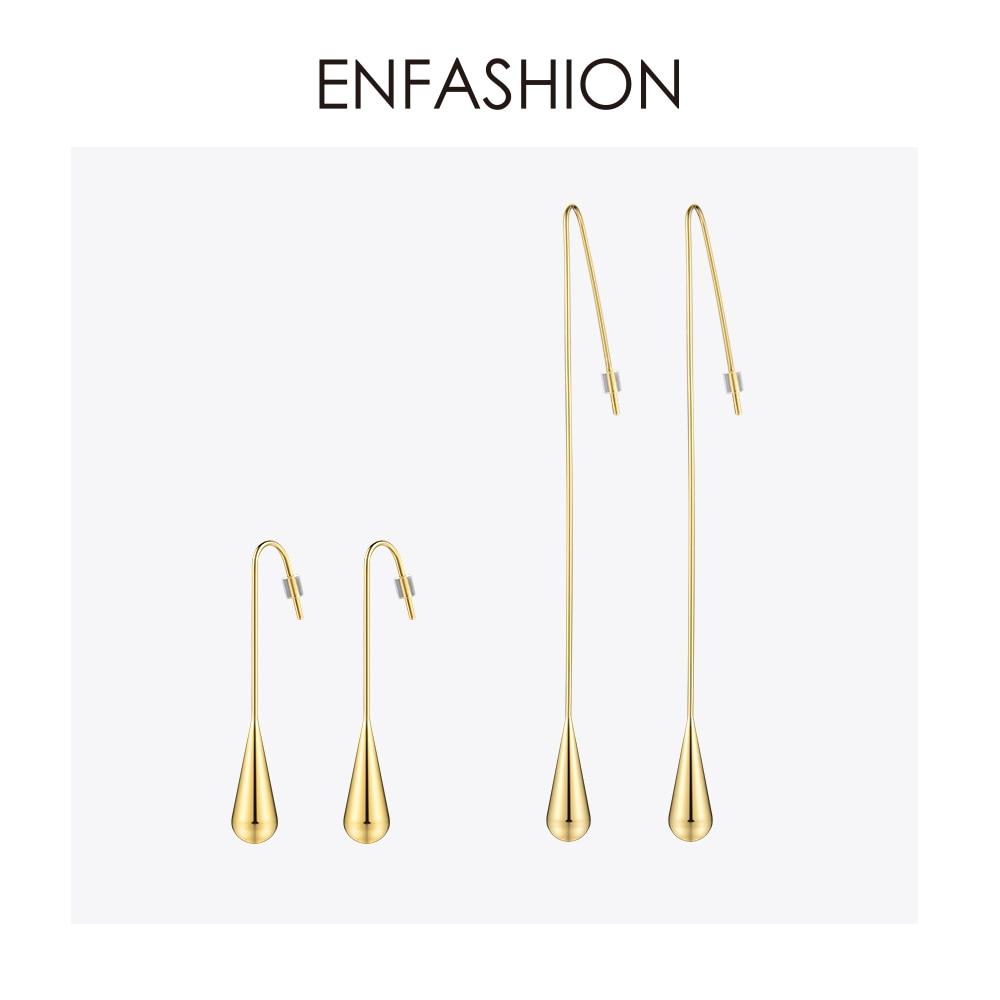 Enfashion oblik kapi vode visiti naušnice zlatne boje naušnice pada - Modni nakit - Foto 1