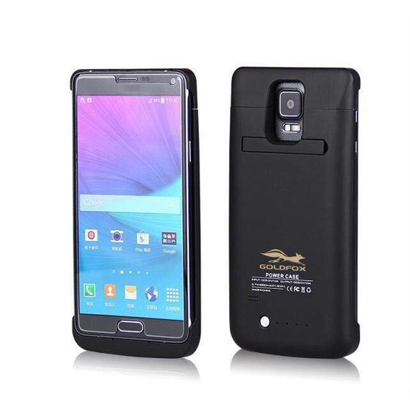 4800mAh External Backup Emergency Charging Power Bank Case Cover for Samsung Galaxy Note 4 <font><b>N9100</b></font> <font><b>Battery</b></font> Charger Case for Note 4