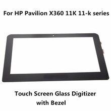 """Nuevo Para HP Pavilion serie X360 11 K 11-K K120NR K013CL K154SA K163NR K010NA 11.6 """"Pantalla táctil Lente de Cristal Digitalizador Panel + Bisel"""