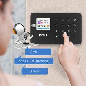 Image 4 - KERUI W18 WIFI GSM система охранной сигнализации автоматический циферблат 6 назначенный телефон приложение управление Настройка детектор движения датчик охранной сигнализации