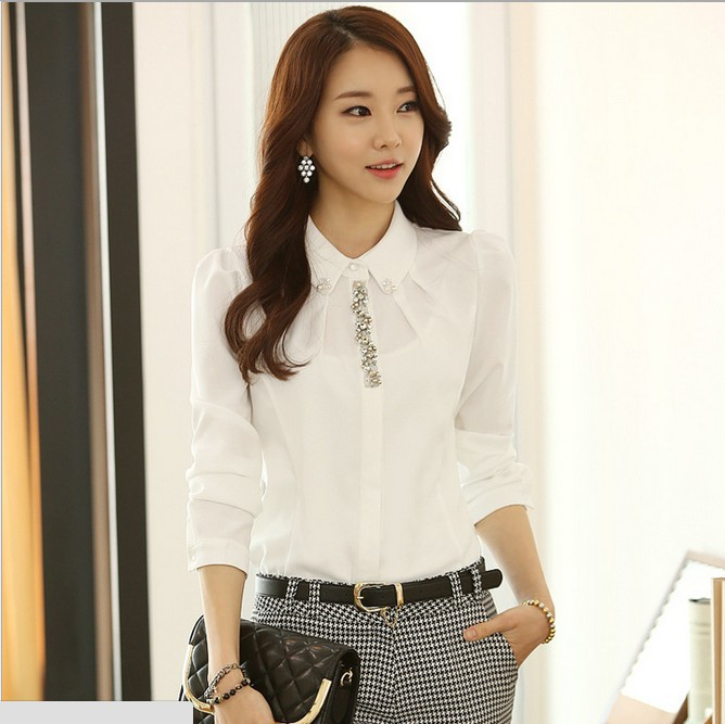 New nice autumn blouse shirts women clothing white shirt for Nice shirts for womens