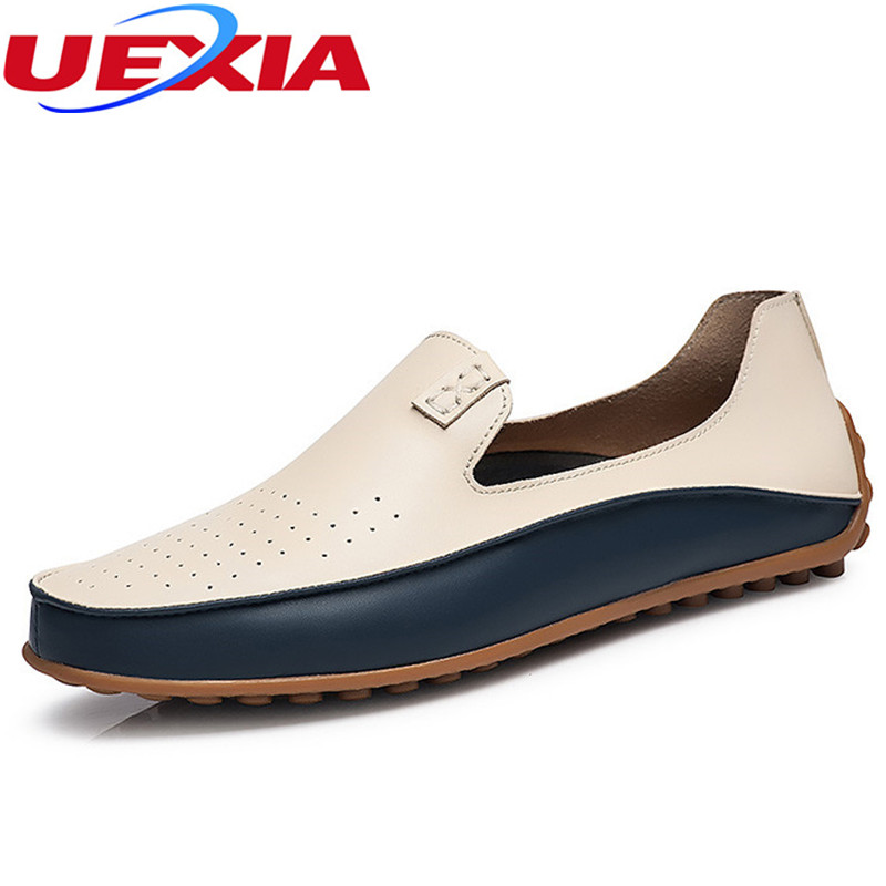 Big Size Fashion Loafers Men Shoes Casual Leather Comfortable Flats Driving Shoes For Male Soft Moccasins Breathable Plus Size genuine leather men casual shoes plus size comfortable flats shoes fashion walking men shoes