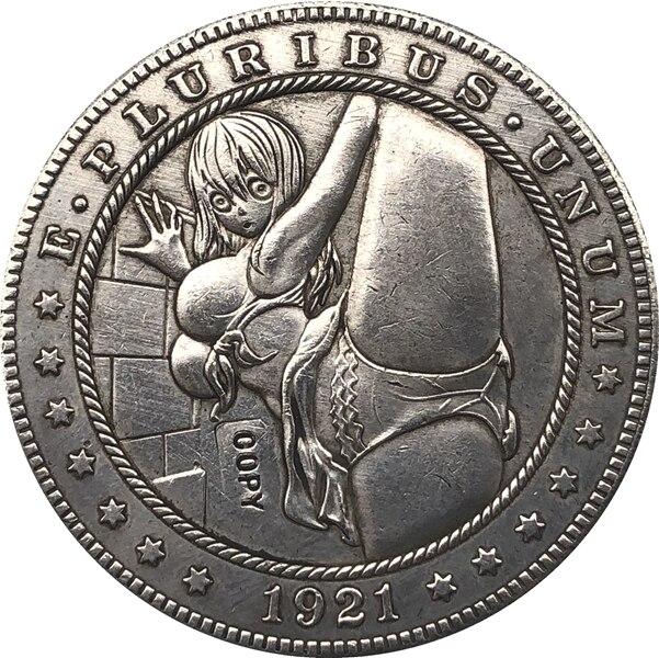 Hobo Nickel 1921-D USA Morgan Dollar Bad Girl COIN Best Gift
