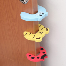 Mambobaby 4pcs Baby Safety Cartoon Animal Stop Edge Corner For Children Guards Door Stopper Holder Lock Safety Finger Protector(China)