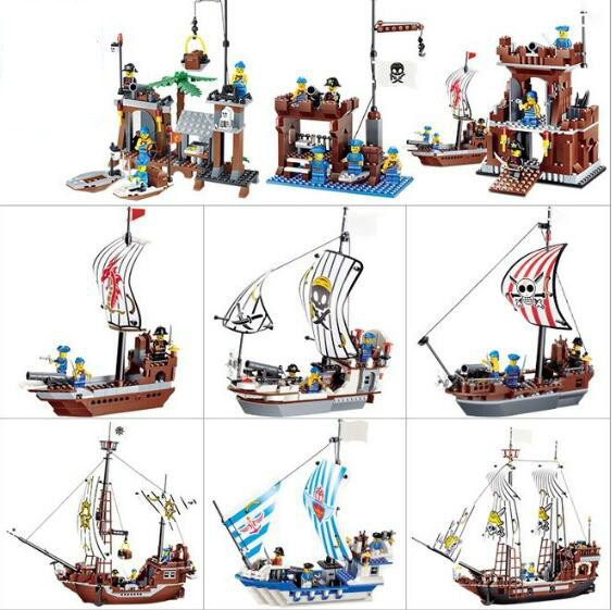 Building Blocks Compatible with Technic J30007 431P Models Building Kits Blocks Toys Hobby Hobbies Pirate Ship Model