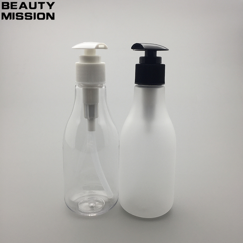 BEAUTY MISSION 200ML Spiral Lotion Pump Bottle clear Plastic Cosmetic Container Empty Shampoo Sub bottling Essence