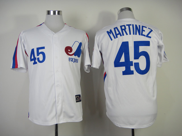 Pedro Martinez Jersey 45 Montreal Expos Baseball Jersey All stitched Retro Style More Color baseball jersey 52 petricka petricka jake petricka jersey
