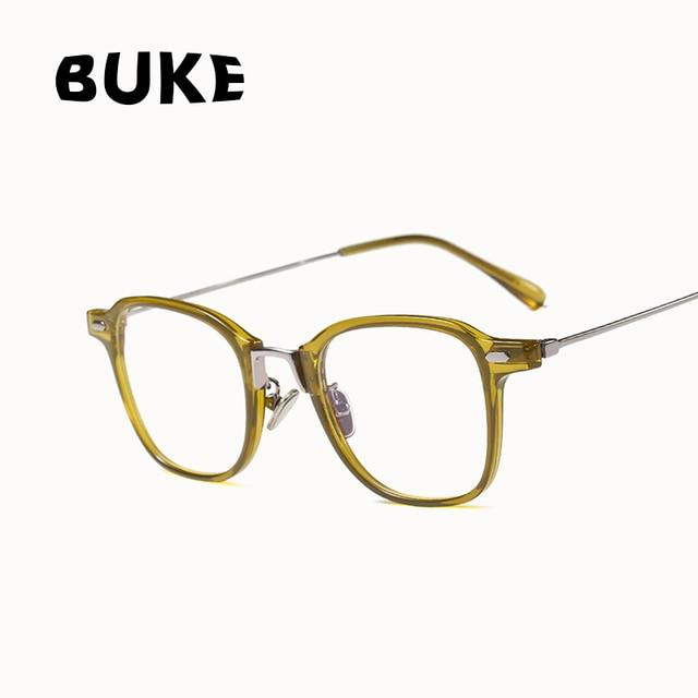 762e5815302 BUKE Fashion Eyewear Brand Designer Women Square Glasses Frames Retro Lady  Eyeglasses Anti-blue design