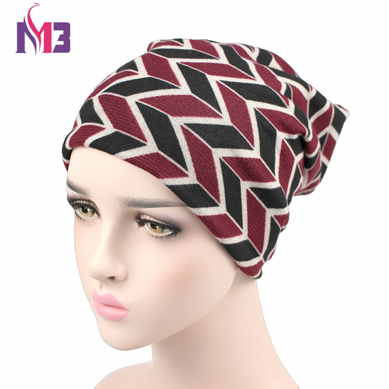 Autumn Winter Women Beanies Hat Unisex Knitted Polyester Skullies Two Used Neck Warmer Casual Cap Striped Ski Gorros Cap autumn winter skullies beanies hat unisex couple knitted wool casual cap solid colors winter warmer print casual gorros cap