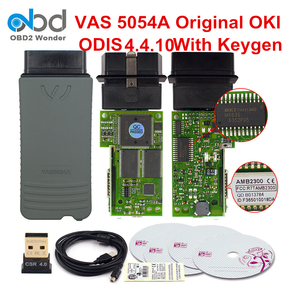 VAS5054A Original OKI Full Chip Diagnostic Tool VAS 5054 ODIS V5.1.3 4.4.10 Keygen Bluetooth VAS 5054A Wifi VAS6154 ODIS Scanner