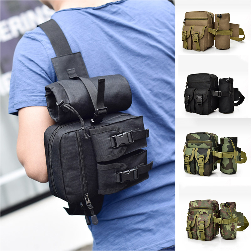 Men Tactical Waist Bag Waterproof Oxford Molle Men Women Fanny Pack Fashion Chest Bag Men Crossbody Bags Military Waist Pack