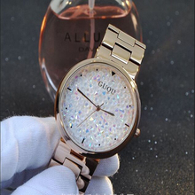 Quartz time clock Water Resistant Women Man Unisex Full Stainless Steel Bracelet Fashion Personality Babysbreath Diamond Watches