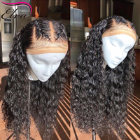 Curly Full Lace Human Hair Wigs With Baby Hair Brazilian Glueless Full Lace Wigs Pre Plucked Hairline Remy Elva Hair Lace Wig