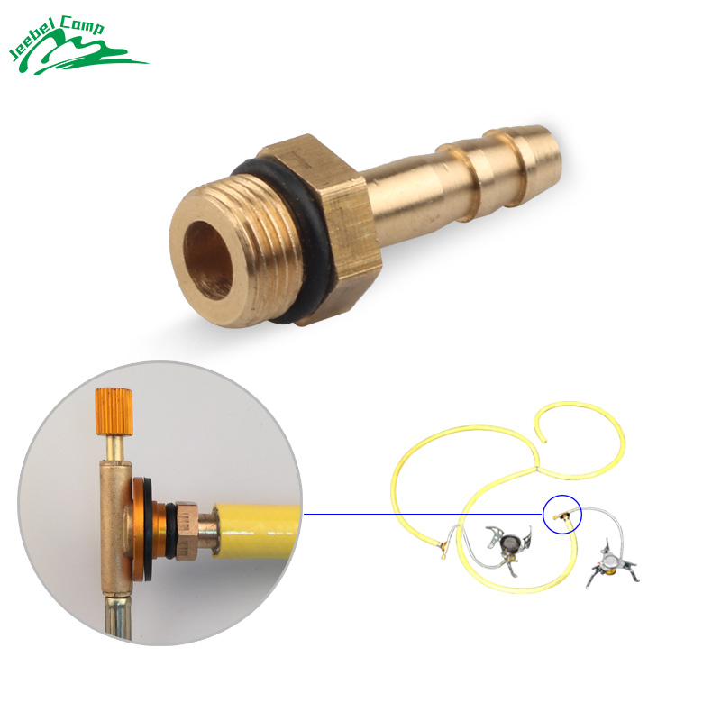 6mm Outdoor Camping Stove Burner Switching Valve accessories Stove Connect to LPG Cylinders Liquefied Cylinder Gas tank adapter earth star outdoor camping stove regulator valve with elbow and nozzle 0 3mm length 45cm