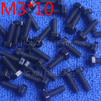 M3*10 10mm black 1pcs Hexagonal nylon Screws plastic Insulation bolts Fasteners brand RoHS compliant PC/board DIY hobby screw
