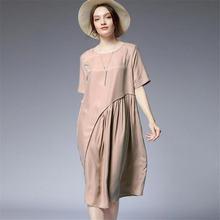 Женское атласное платье трапеция средней длины 100 кг модель