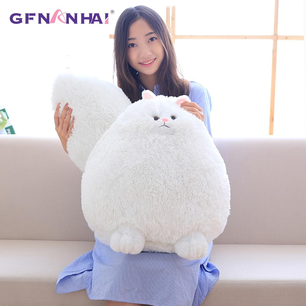 Lovely Simulation Persian Cat Plush Toys Soft Cotton Stuffed Pembroke Pet Animal Plush Fat Cat Dolls Best Gifts for Girl Kids