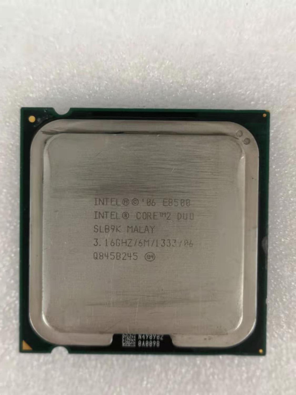 Intel Core Duo 2 E8500 Processador de Desktop Dual-Core 3.16 GHz 6 MB Cache 1333 MHz FSB LGA 775 E 8500 CPU Usado