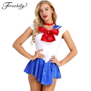 Image 1 - High Quality Japan Sailor Moon Cosplay Costume Moon Dress For Adult Fancy Halloween Fancy Sexy Carnival Costume Dress