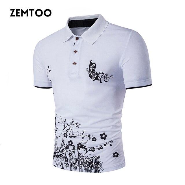 18327034a1f0b Roupas de marca Nova Camisa Polo Dos Homens Homens Casual Floral Impresso  Polo Homme Masculino Camisa