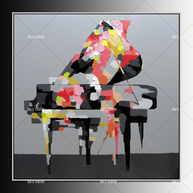 Free shipping! Handmade abstract modern life piano oil painting music wall art decoration on canvas