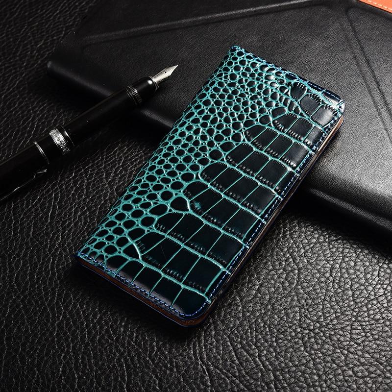 Crocodile Genuine Leather Case Huawei Honor 5a 5c 5x 6 6a 6c 7 7a 7i 7x 8 8c 8x 9 9i 10 Plus Lite Pro View Max Flip Stand Cover