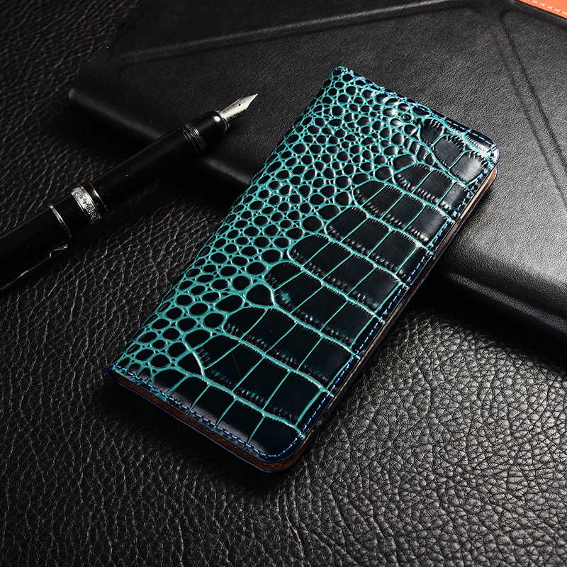 Crocodile Genuine Leather Case Huawei honor 5a 5c 5x 6 6a 6c 7 7a 7i 7x 8 8c 8x 9 9i 10 Plus Lite Pro view max Flip Stand cover
