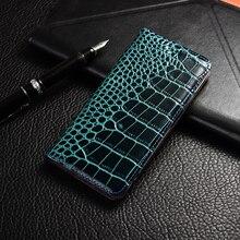 Krokodil Echtem Leder Fall Huawei honor 5a 5c 5x6 6a 6c 7 7a 7i 7x8 8c 8x9 9i 10 Plus Lite Pro ansicht max Flip Stand abdeckung